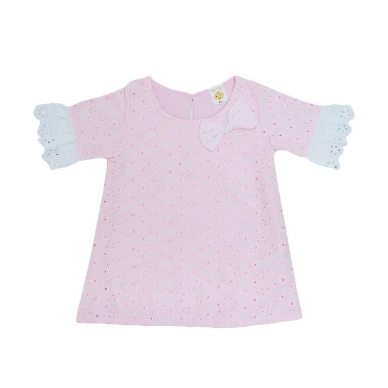 harga PLEU Brokat Renda Dress Anak - Pink Blibli.com