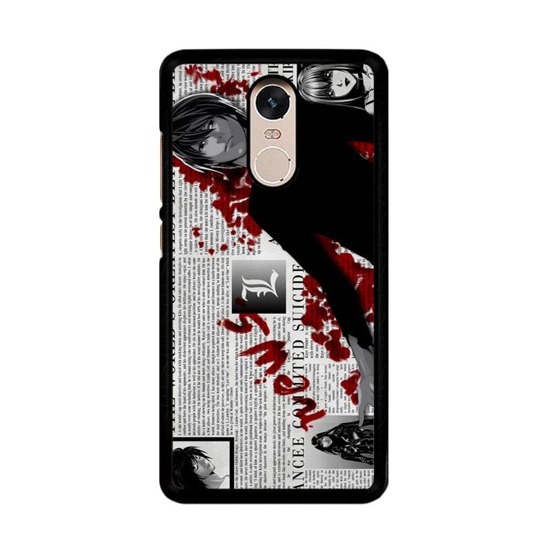 Flazzstore Death Note Z1215 Custom Casing for Xiaomi Redmi Note 4 or Note 4X Snapdragon Mediatek