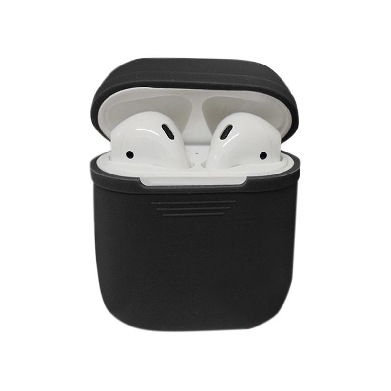 Apple Airpods Silicone Case Protective Cover Pouch - Hitam