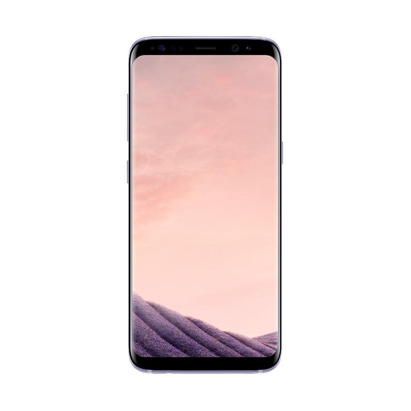Samsung Galaxy S8 Plus Smartphone - Orchid Gray [64GB/ 4GB] + Tumi Leather Comold Casing
