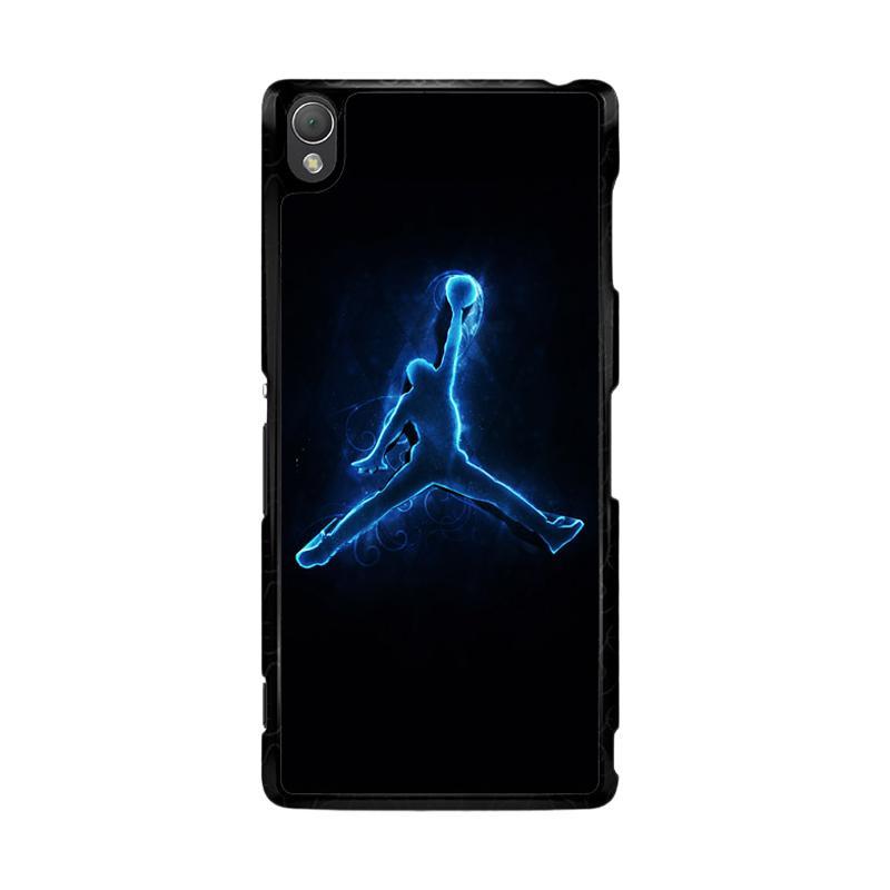 Flazzstore Air Jordan Glow Light Blue O0768 Custom Casing for Sony Xperia Z3