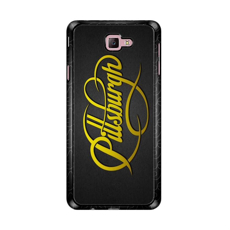 Flazzstore Pittsburgh Steelers Logo Font Z4880 Custom Casing for Samsung Galaxy J7 Prime