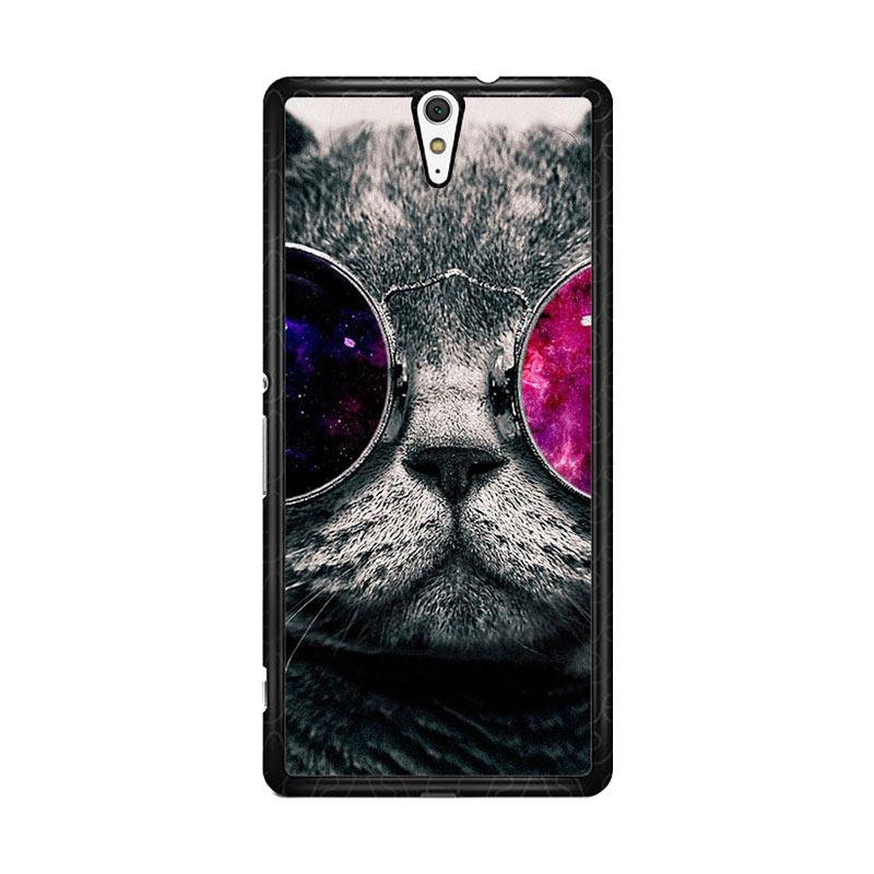 Flazzstore Cat Glasses O0167 Custom Casing for Sony Xperia C5 Ultra