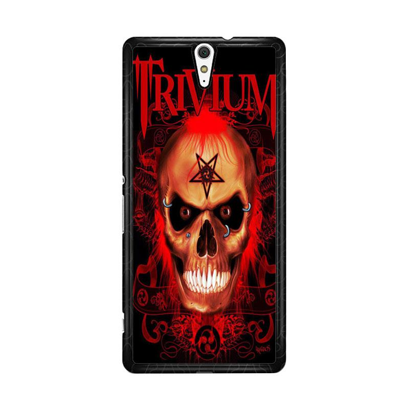 Flazzstore Trivium Red Skull Devil Black Metal Band Logo Z0765 Custom Casing for Sony Xperia C5 Ultra