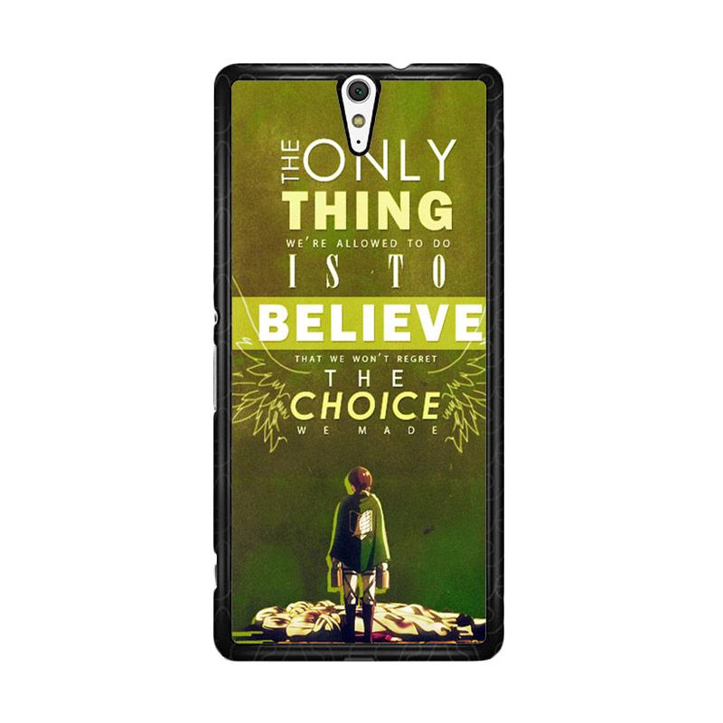 Flazzstore Attack On Titan Quotes Z1091 Custom Casing for Sony Xperia C5 Ultra