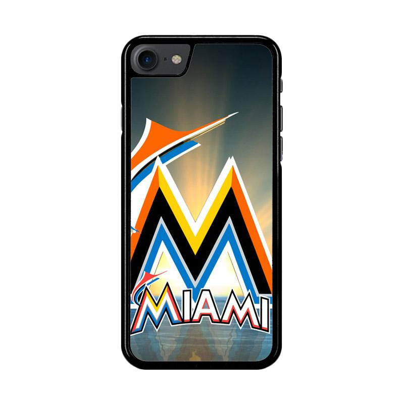 Flazzstore Miami Marlins Z3353 Custom Casing for iPhone 7 or 8