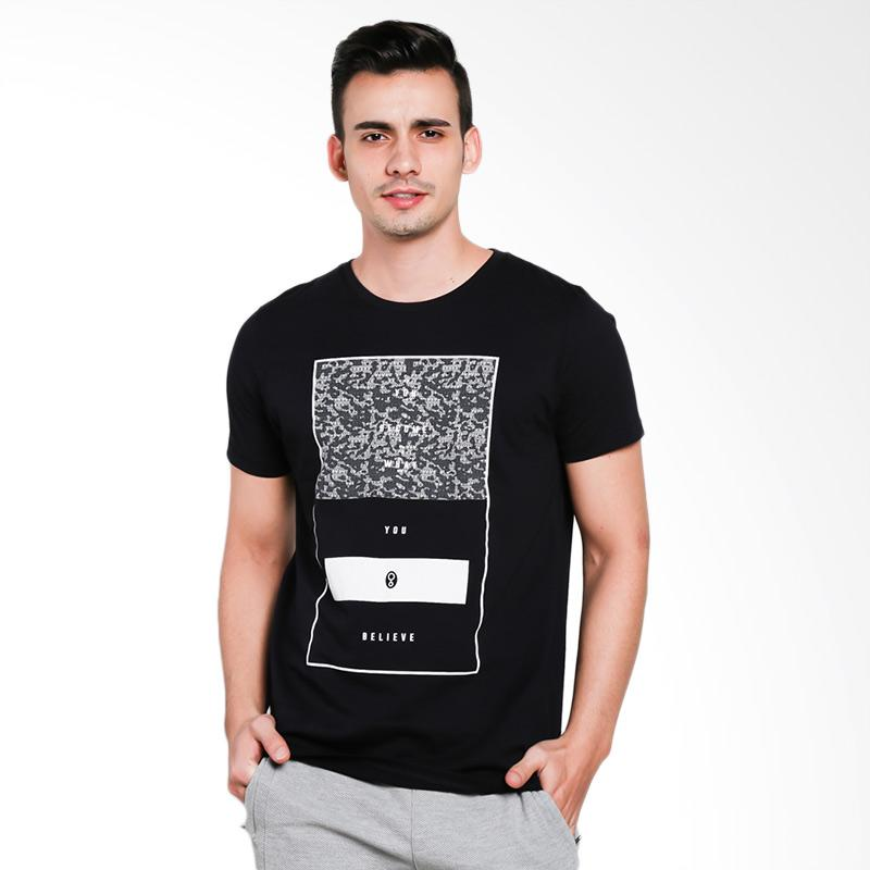 Greenlight Men 5801 T-Shirt Pria- Black
