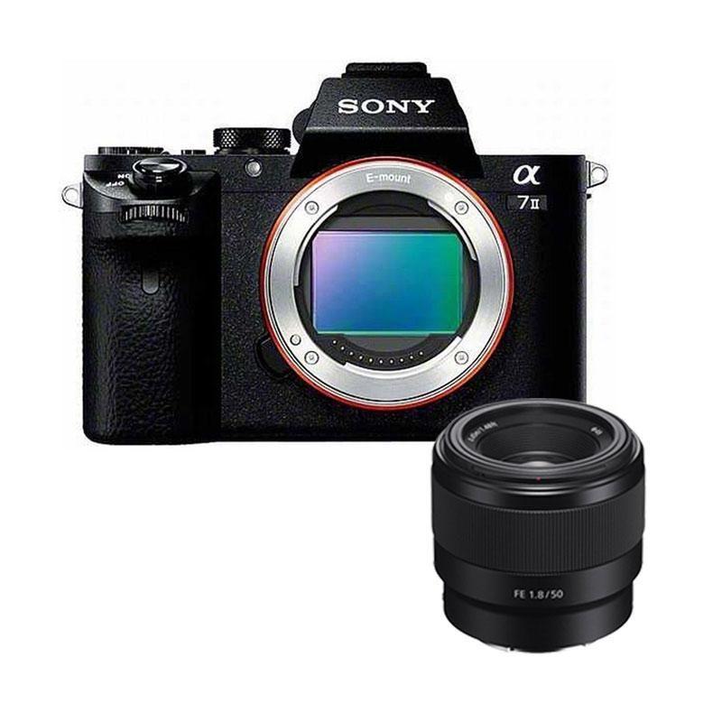 SONY A7 II ILCE-7M2 Kamera with SONY FE 50mm F1.8 Kamera Mirrorless