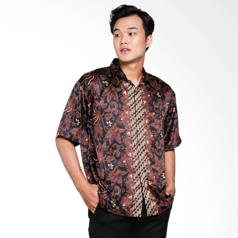 Blitique Arrav Semen Kemeja Batik Pria - Hitam