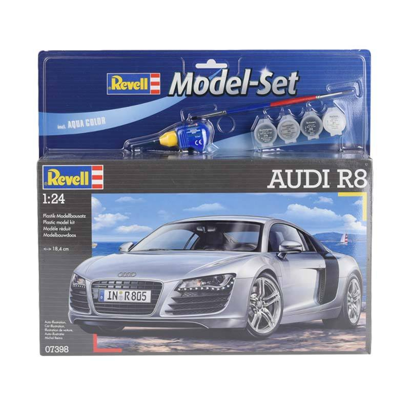 Revell Model Set Audi R8 Model Kit - Silver [1:24]