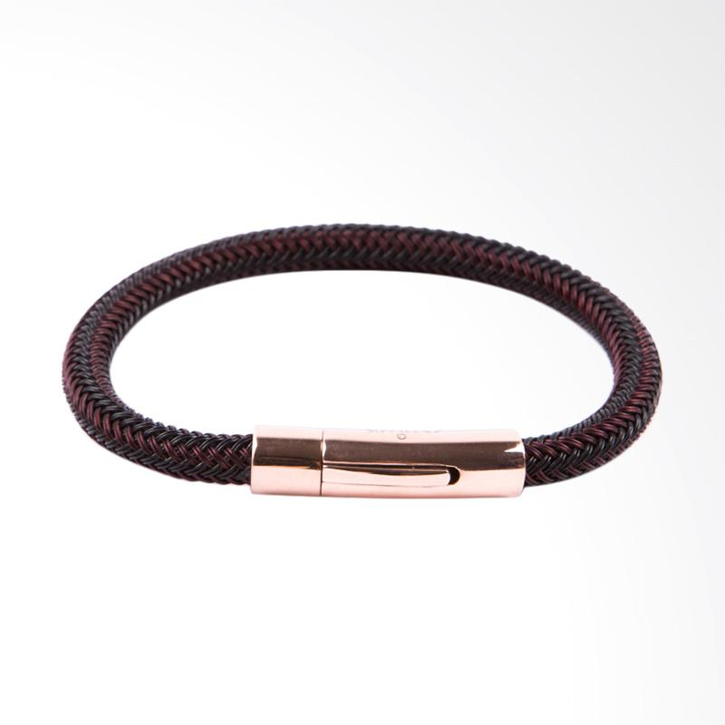 STRAPS Kulit Optimus Gelang Pria - Brown Black