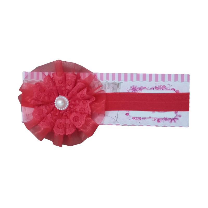 Mom Elegant Flower Headband - Red