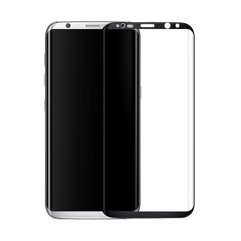 3T Tempered Glass Screen Protector for Samsung Galaxy S8 - Black [Full Cover]