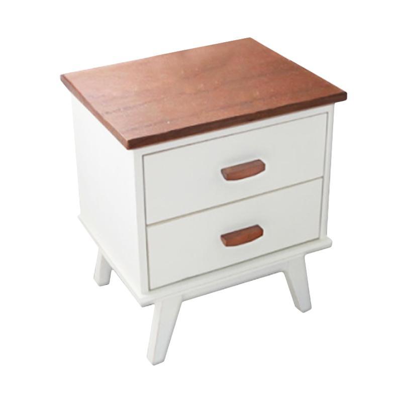Livien Furniture Milano Meja Nakas - Ivory