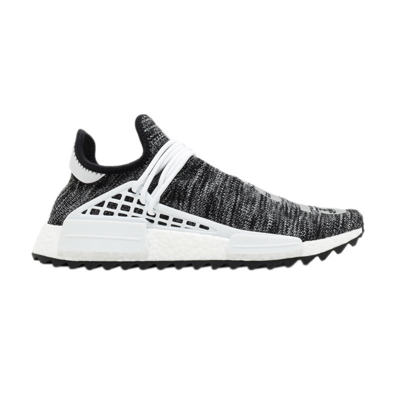 0557c2a92 harga adidas Originals Men NMD Pharrell Williams Human Race Sepatu Sneakers  Pria - Oreo  AC7369