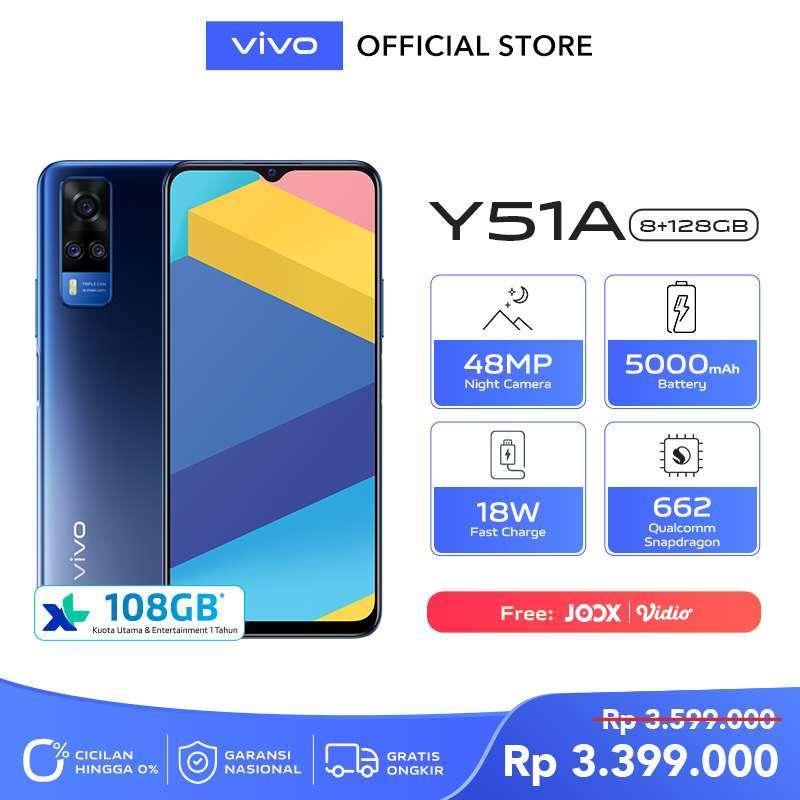 FS vivo Y51a 8GB/128GB - 48MP Night Camera, 665 Qualcomm Snapdragon, 5000 mAh Battery -