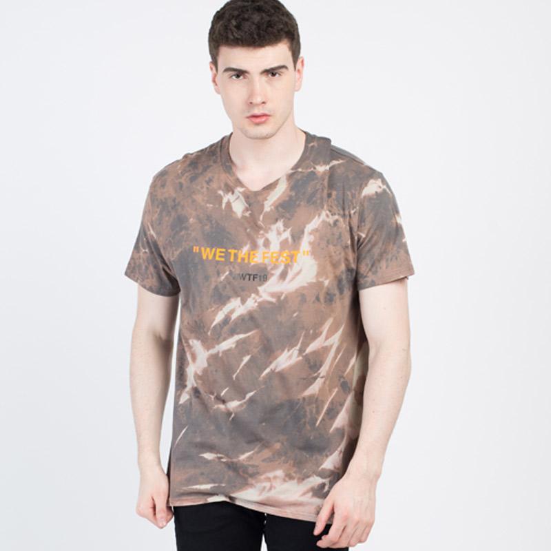 Monstore WTF Tie Dye Tee T Shirt Unisex Brown Brand Monstore Belum ada ulasan