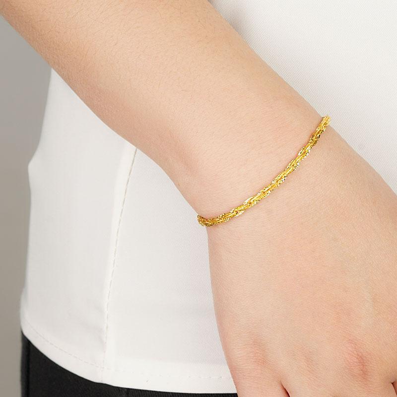 Lovella Gold Jewellery Twister Bracelet