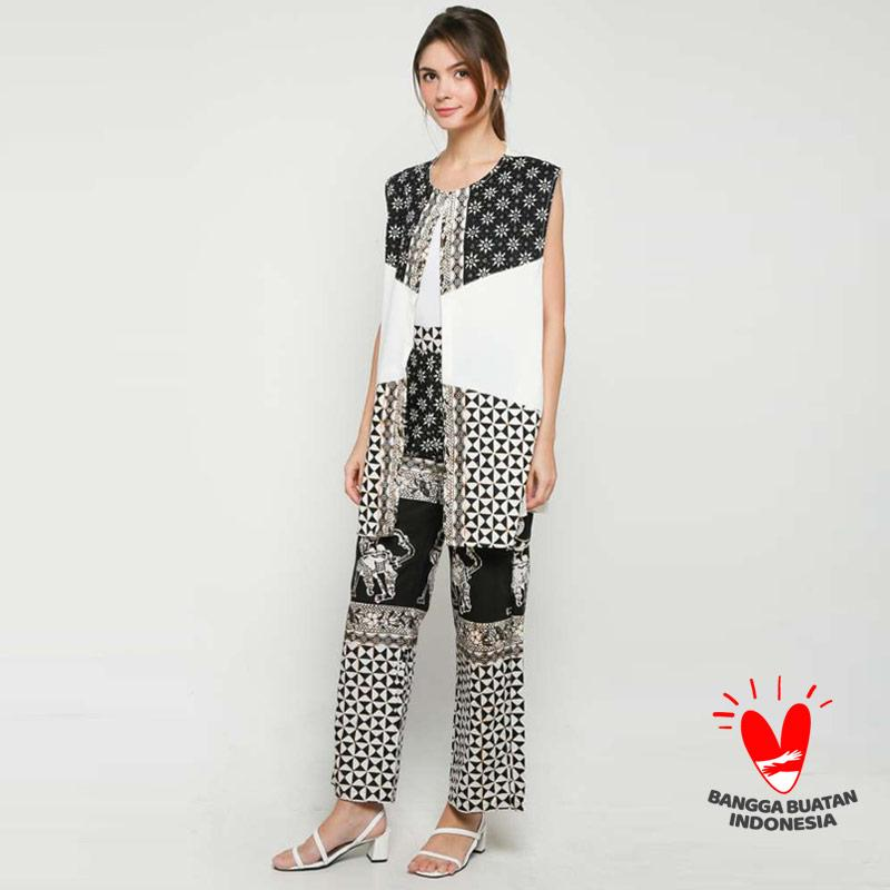 GESYAL Setelan Tunik Kulot Batik Wanita