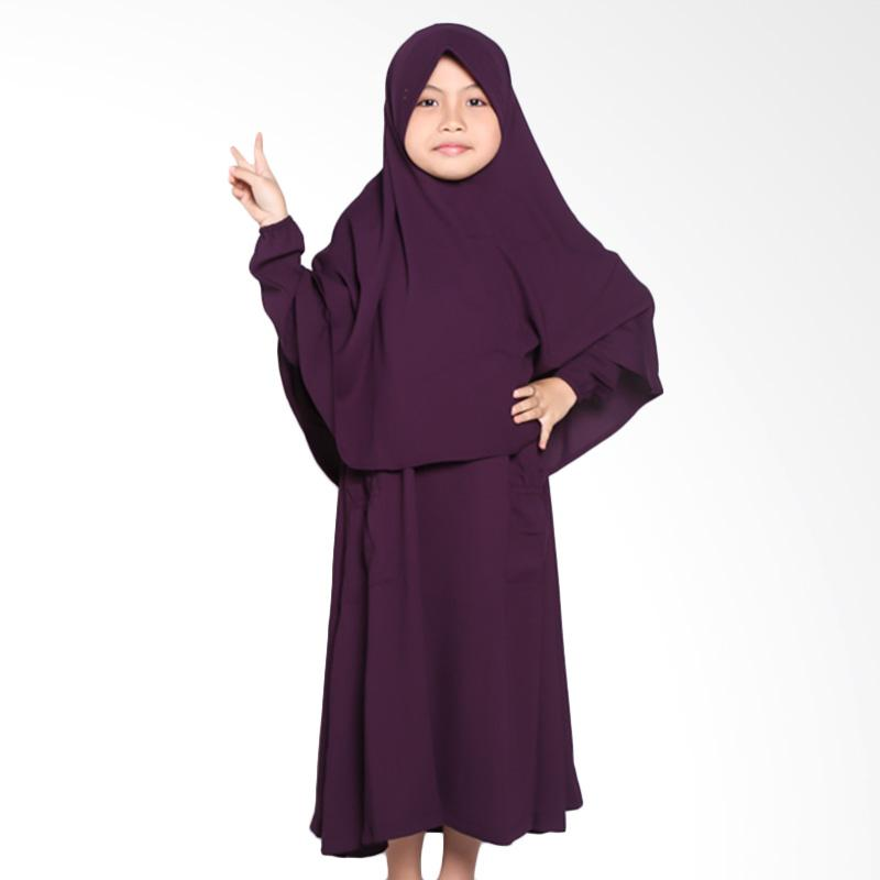 Allev Qarira Baju Muslim Anak - Ungu