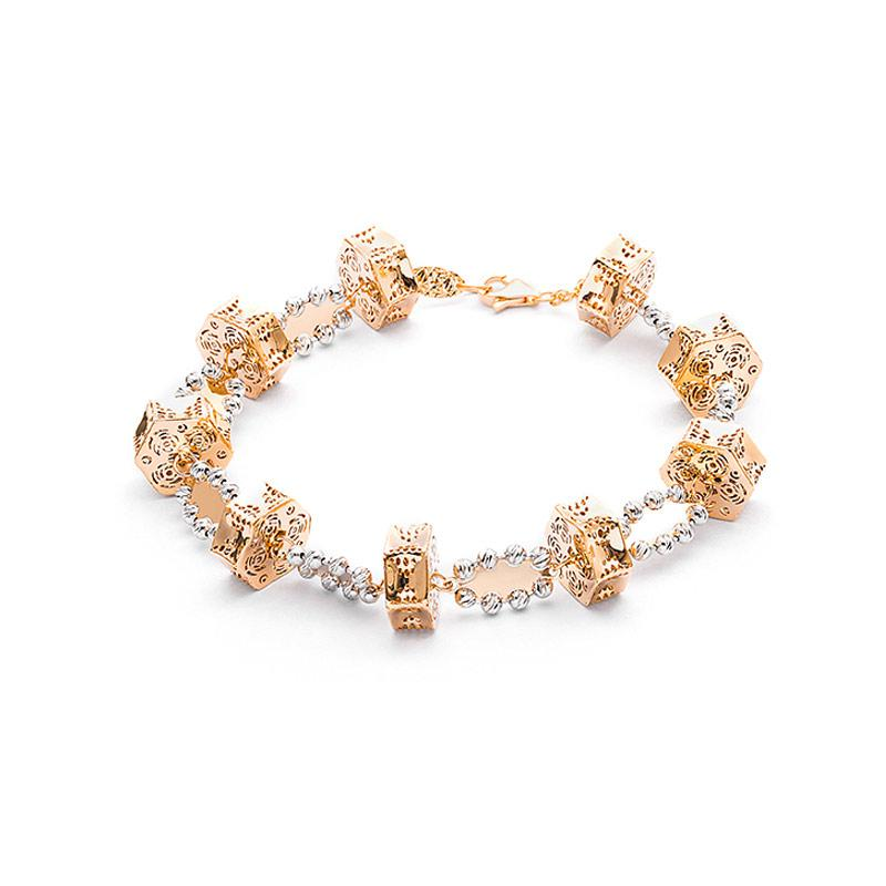Gelang Emas Kadar 75 - Cage Gold  Bracelet-WHIZLIZ