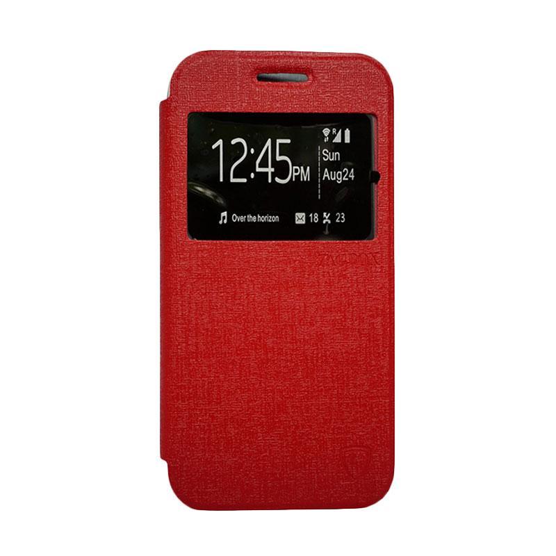 Zagbox Flip Cover Casing for Lenovo A5000 - Merah