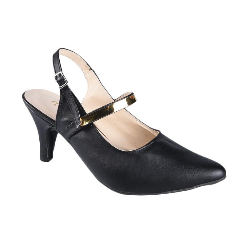 Flower SN-245 High Heels Wanita - Black
