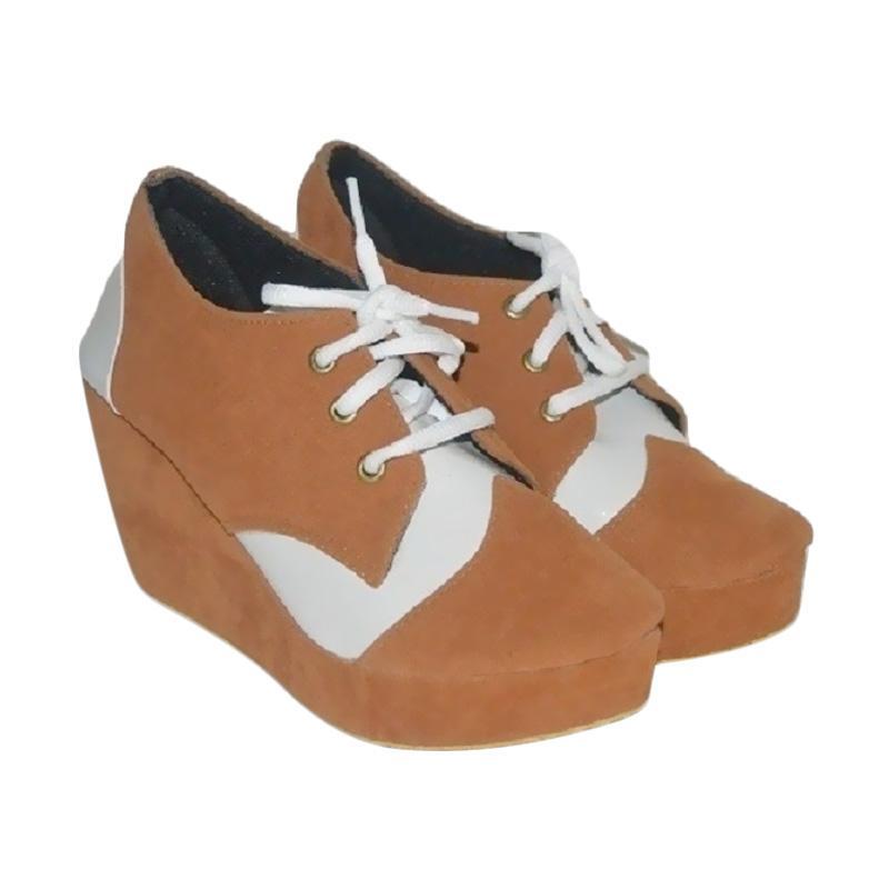 Hawabie Wedges Smooth Sepatu Wanita - Tan