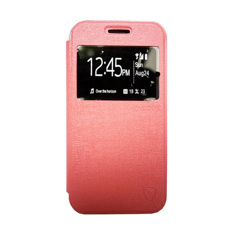Zagbox Flip Cover Casing for Huawei Y5 - Pink