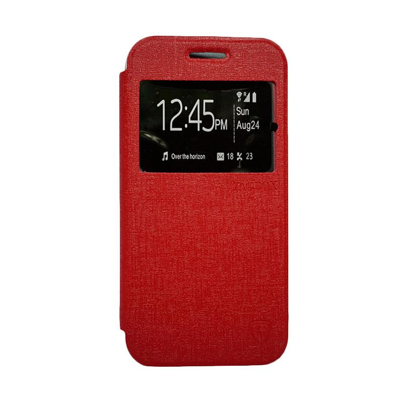 Zagbox Flip Cover Casing for Lenovo A6000 - Merah