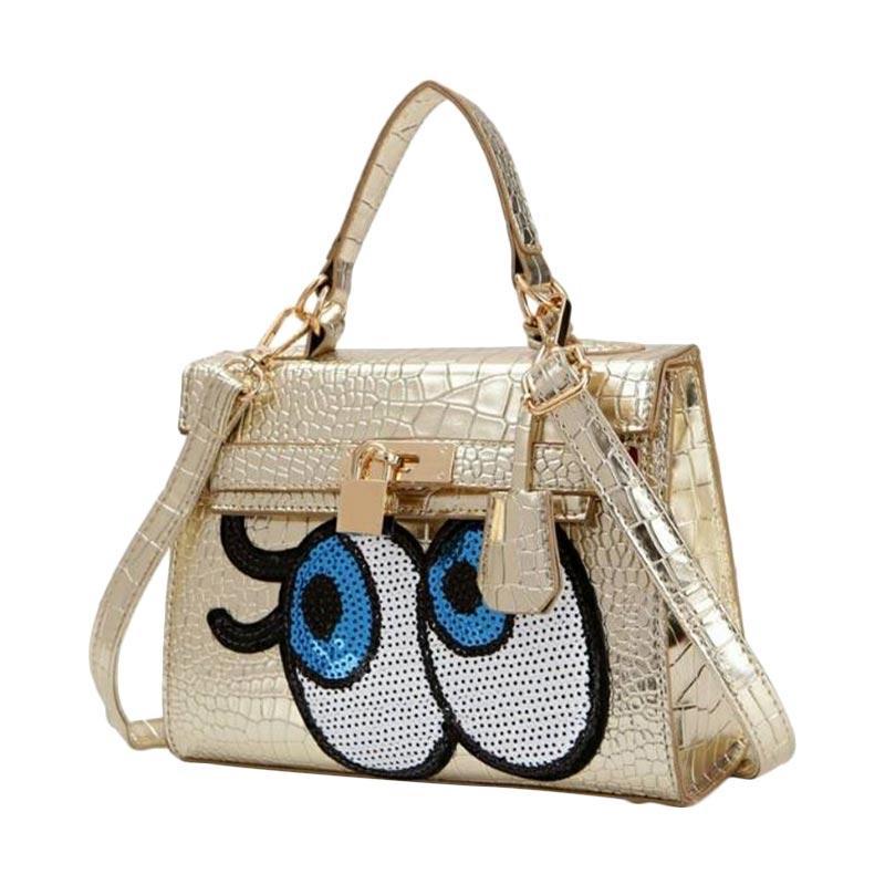 Annies Fashion Eye Tas Wanita - Gold