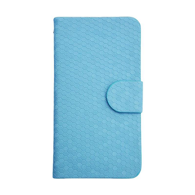 OEM Glitz Flip Cover Casing for Vivo Y33 - Biru