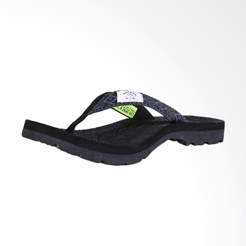 Savana Sandal Panite Clip - Black Grey