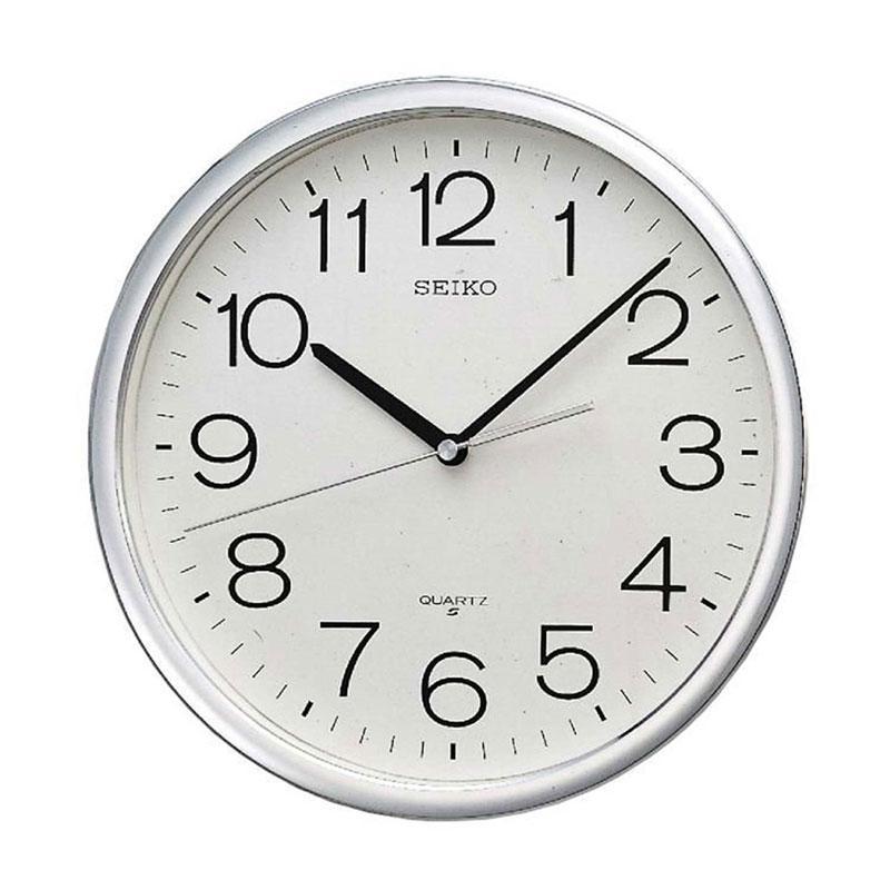 Seiko QXA041S Wall Clocks - Silver [40 cm]