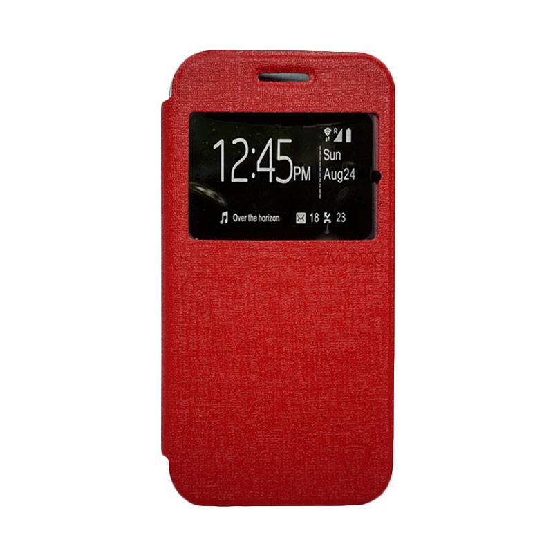 Zagbox Flip Cover Casing for Huawei Y3 - Merah
