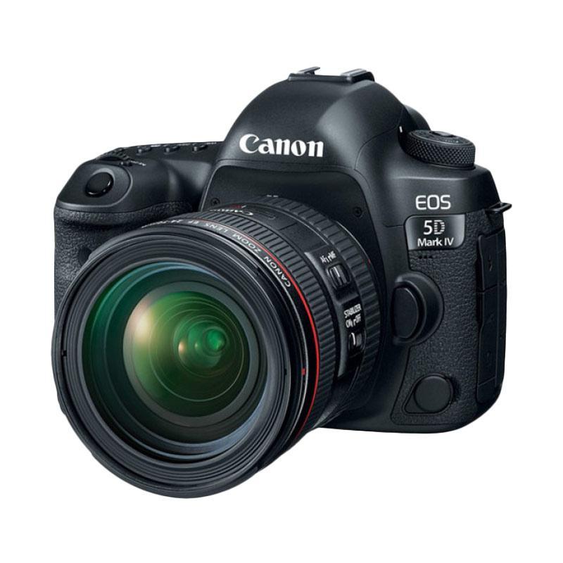 Canon EOS 5D Mark IV Kit EF 24-70mm f/4L IS USM Kamera DSLR - Black