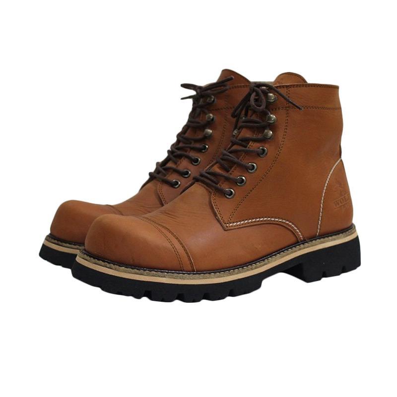 harga Handmade Pitbull Safety Sepatu Boot Pria - Tan Blibli.com