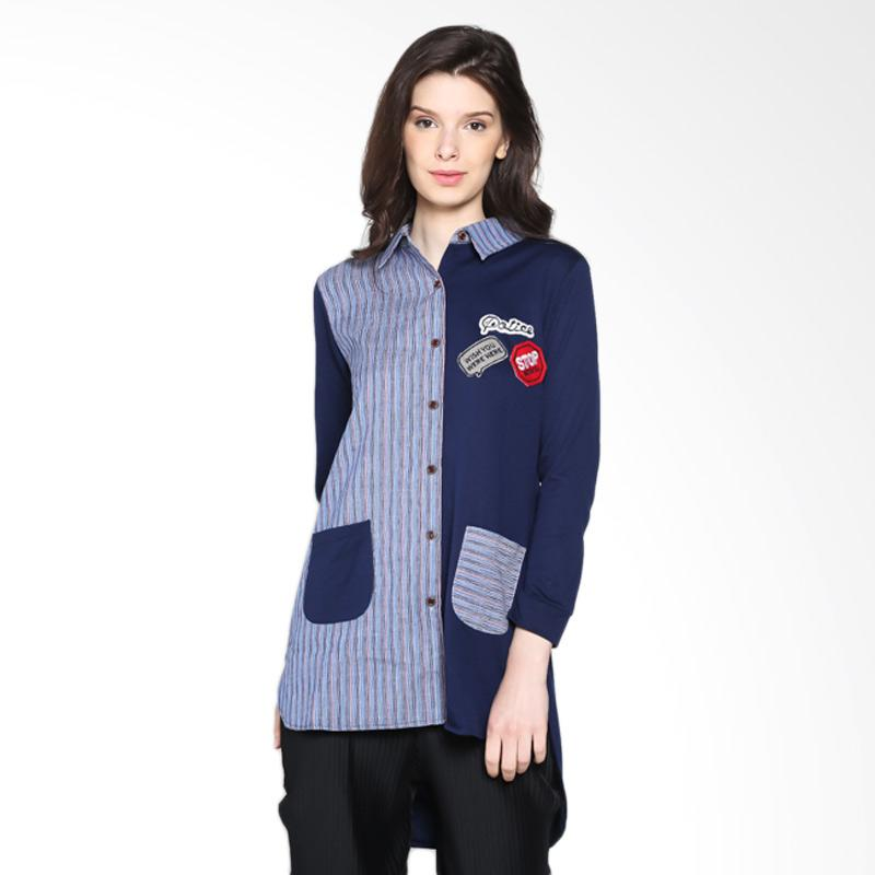 Carte Dallas Block Shirt Kemeja - Navy