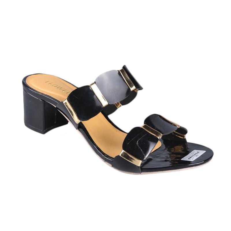 Flower SN-285 High Heels Wanita - Black