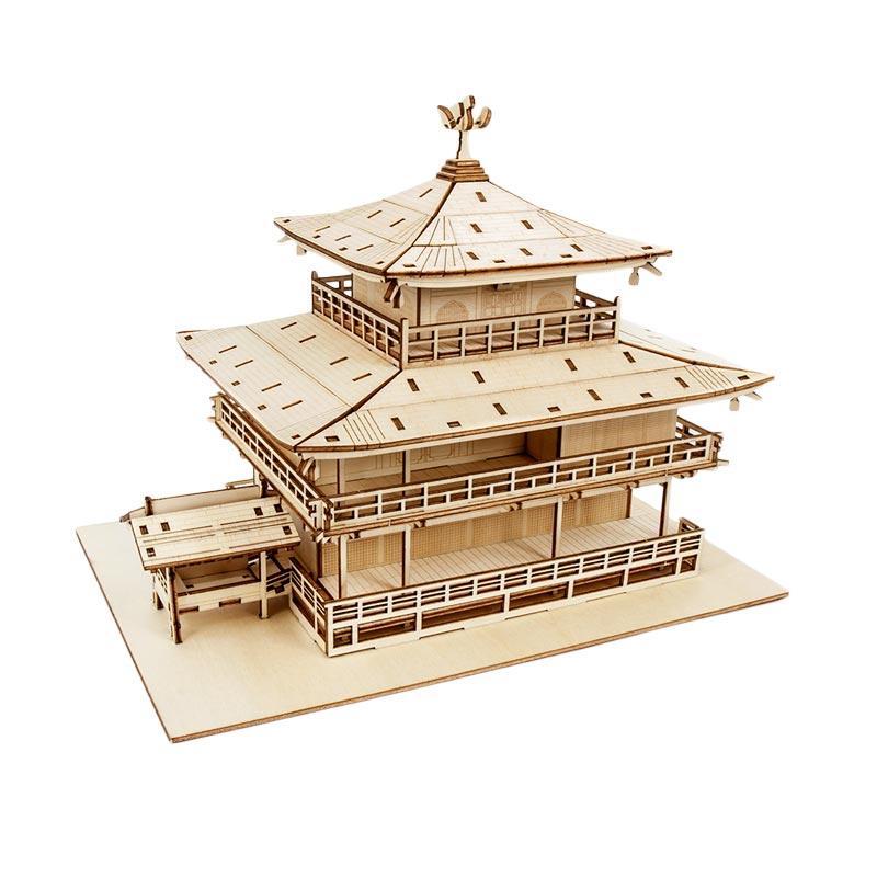 Kigumi 3D Puzzle Kayu Kinkakuji Model Kit
