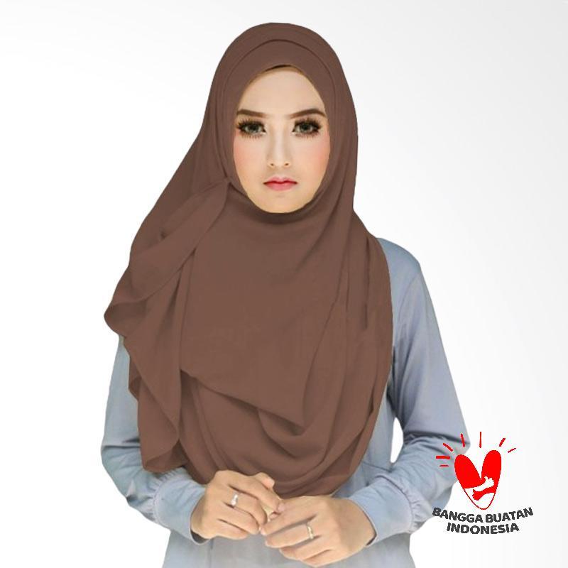 Milyarda Hijab Tazkia Kerudung Instan - Coklat