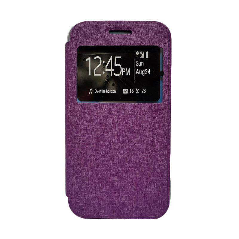 Zagbox Flip Cover Casing for Lenovo A1000 - Ungu