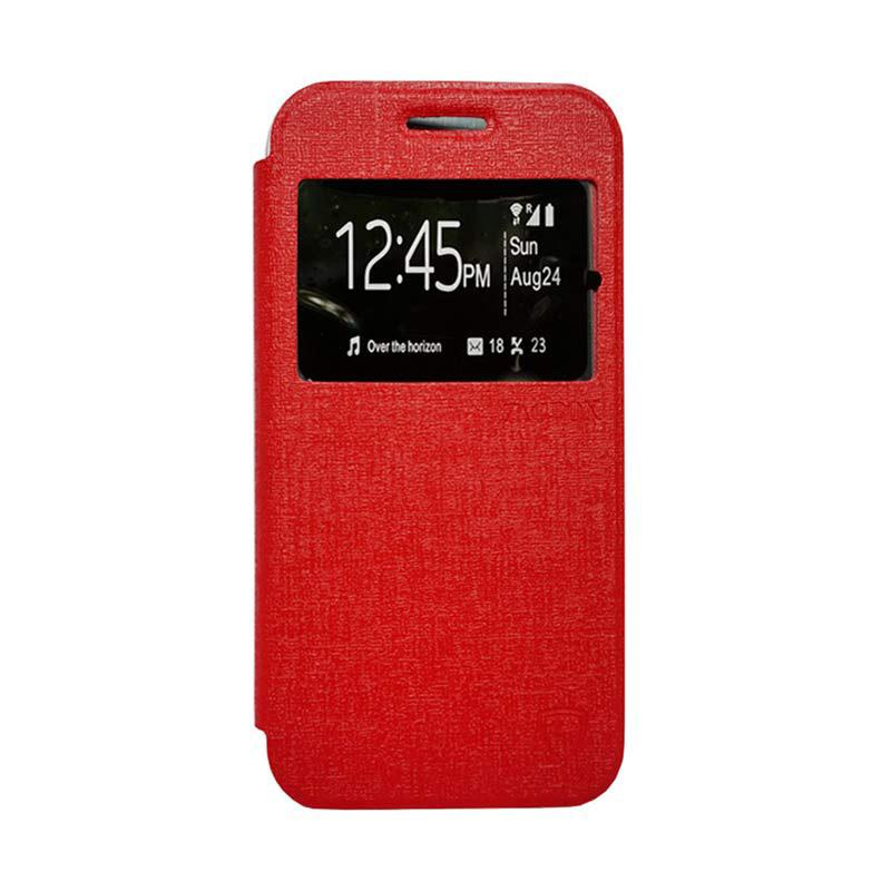 Zagbox Flip Cover Casing for Oppo R1 X - Merah