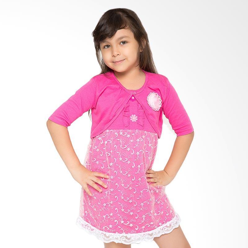 4 You Bolero Tile Dress Anak - Fuschia
