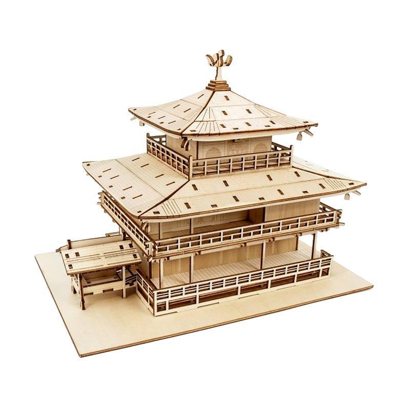Kigumi Kinkakuji 3D Puzzle Kayu