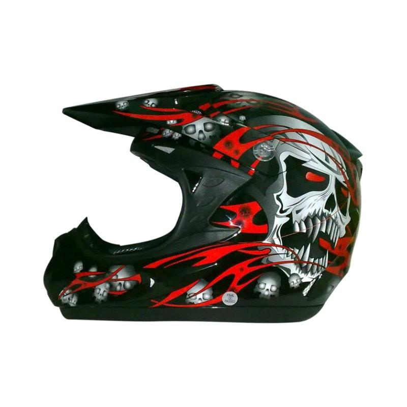 harga Snail Helmet 309 Helm Motocross - Red Skull Cross Blibli.com
