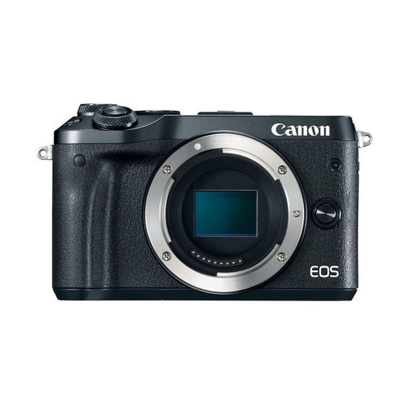 CANON EOS M6 BODY ONLY BLACK + FREE BATTERY CADANGAN LP-E17