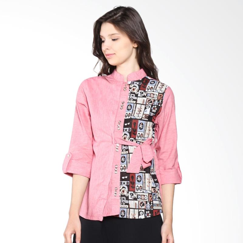Carte Half Ethnic Blouse Shirt - Pink