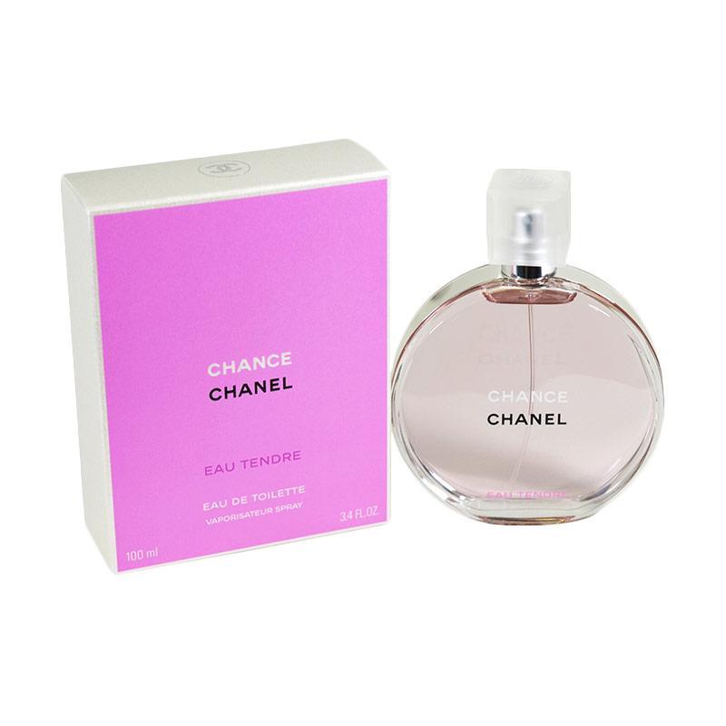 Chanel Chance Eau Tendre EDT Parfum Wanita [100 mL] Ori Tester Non Box