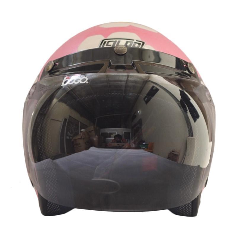 harga IGLOO Retro Kitty Cat Helm Half Face Blibli.com